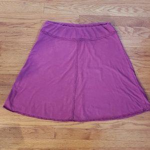 PRANA Dahlia A-Line Skirt PINK Med Organic